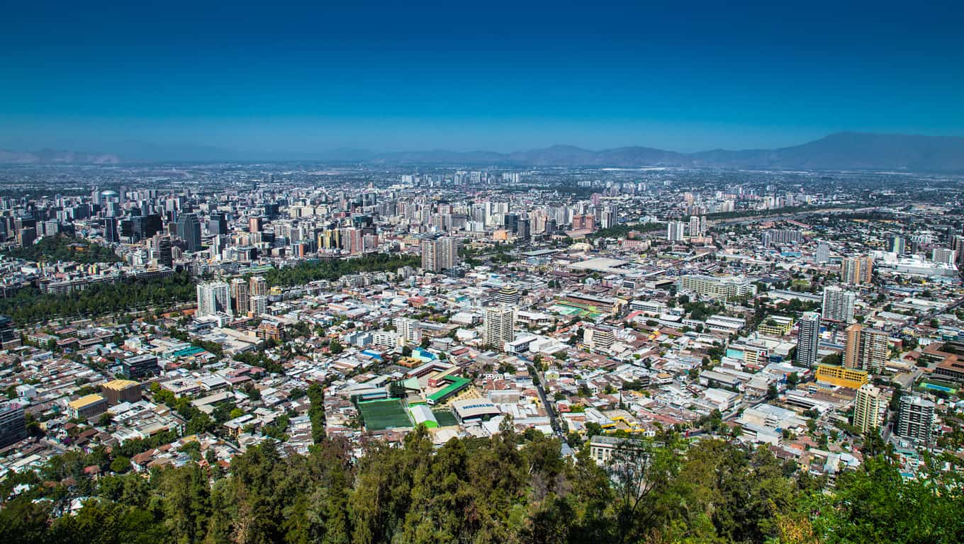 View From San Cristobal Hill - Chile, South America