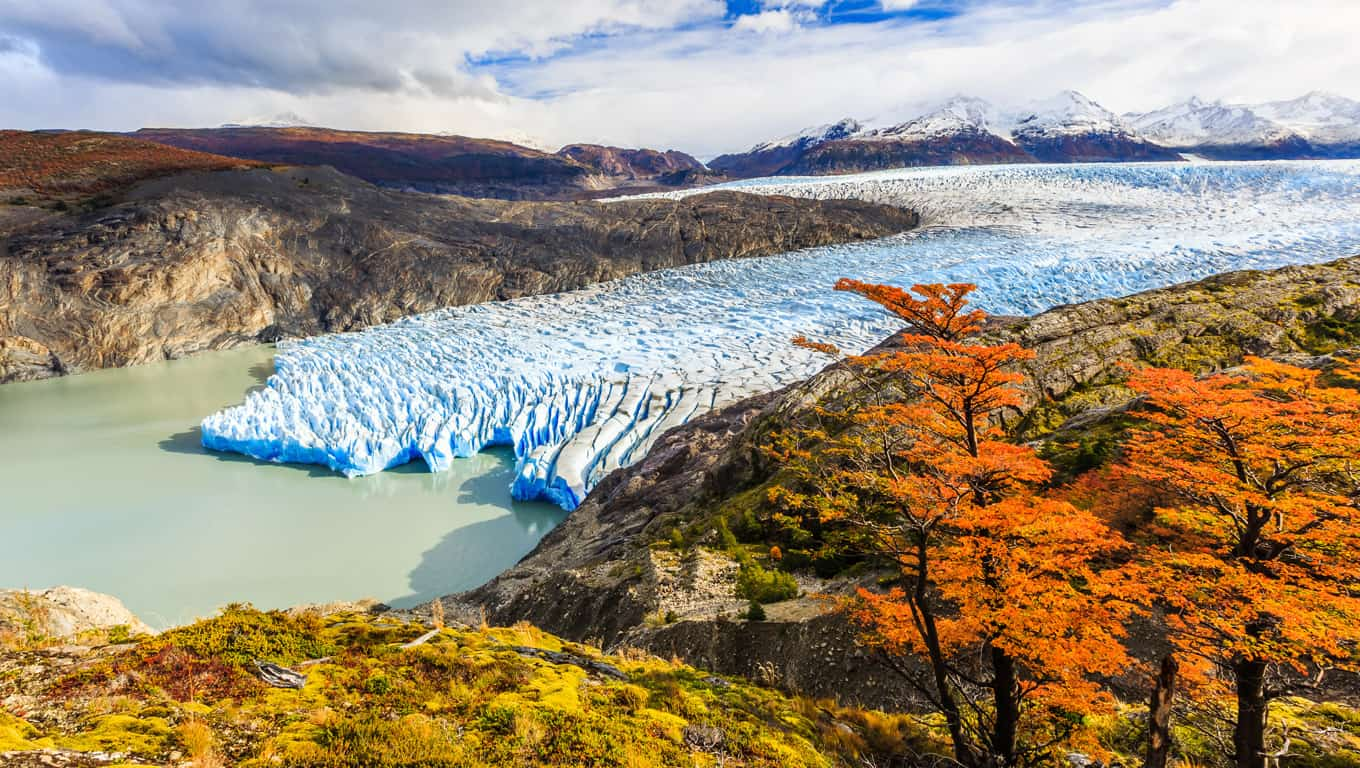 Grey Glacier In Torres Del Paine National Park - Chile, South America