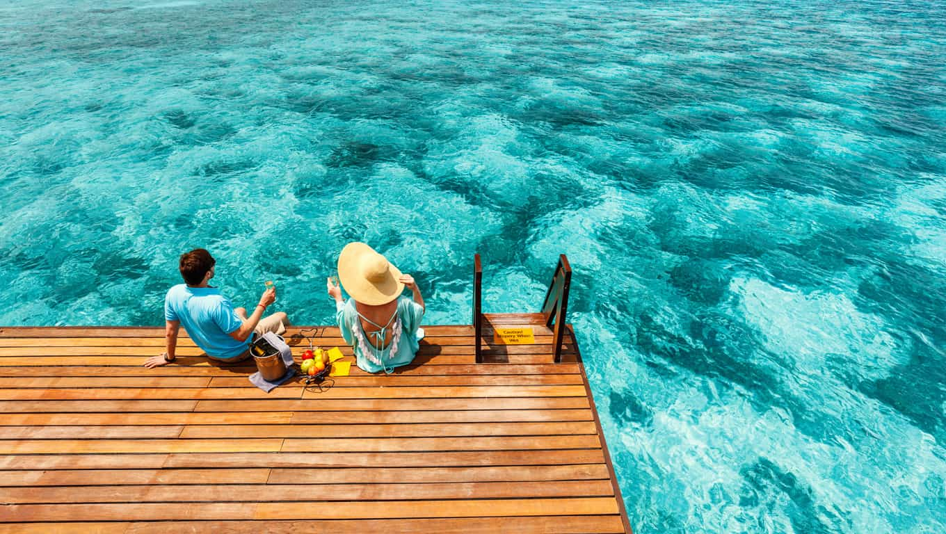 Overwater Bungalow Deck - French Polynesia