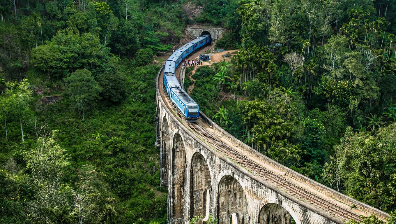 Train On The Nine Arches Bridge - Ella, Sri Lanka