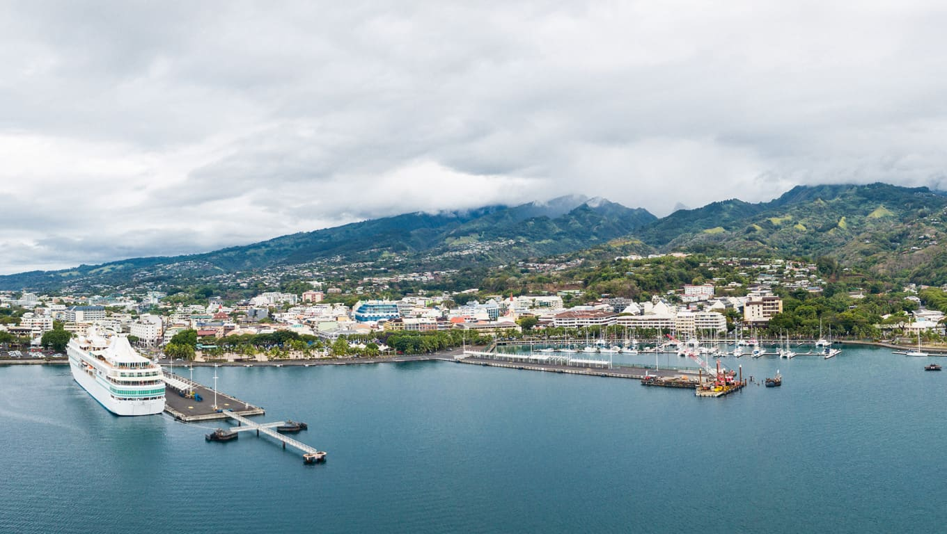 Papeete Harbour - Tahiti, French Polynesia