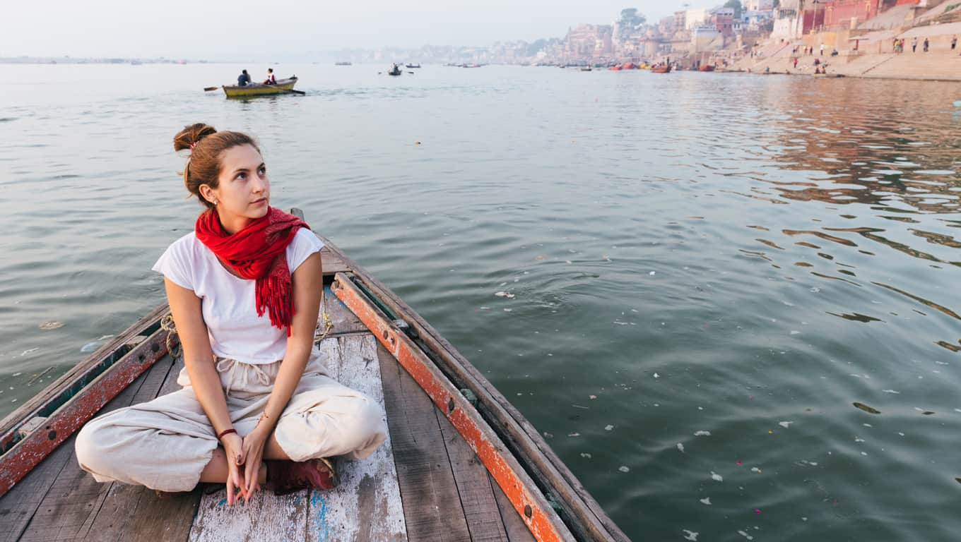 Boat Ride On The River Ganges - Varanasi, India