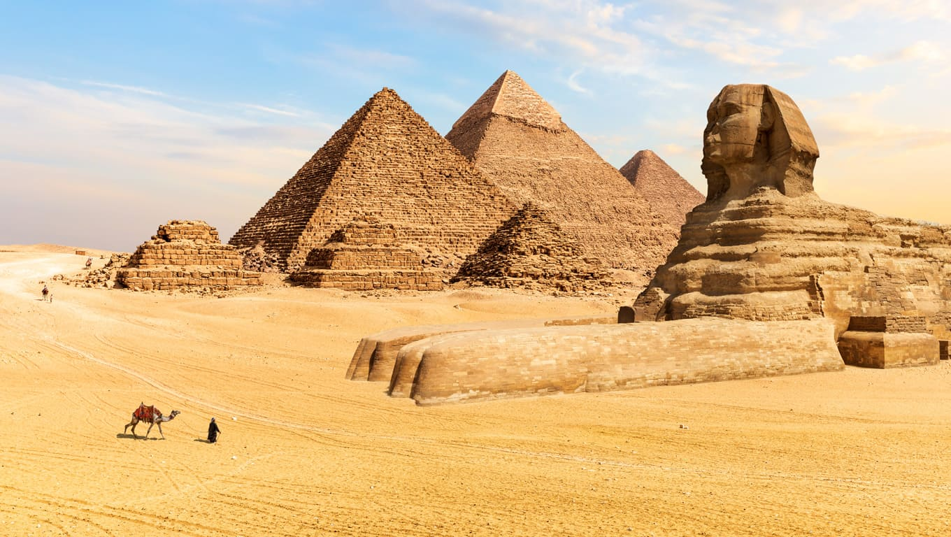 Pyramids And Sphinx Of Giza - Egypt
