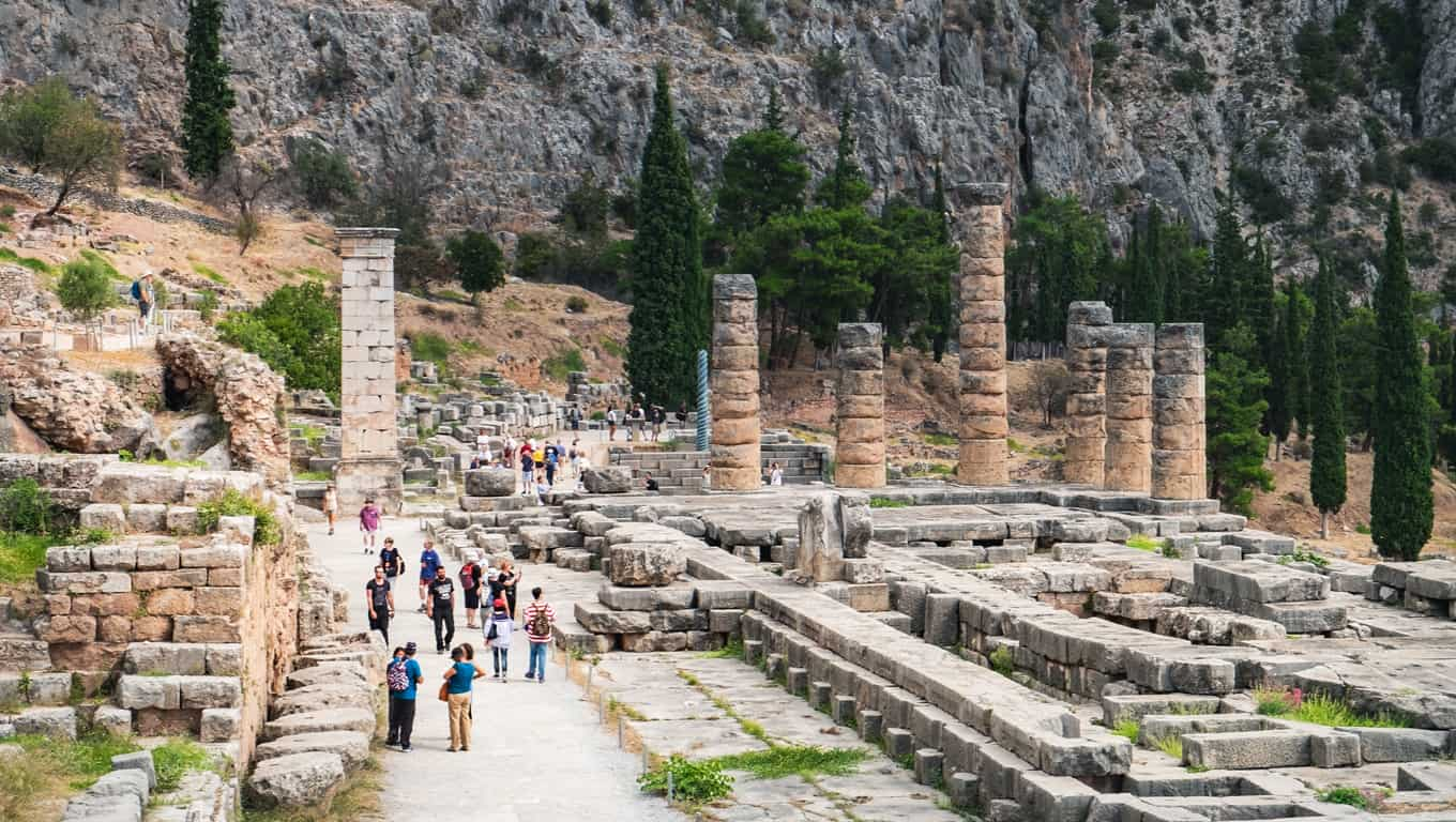 Ruins At Delphi, Greece