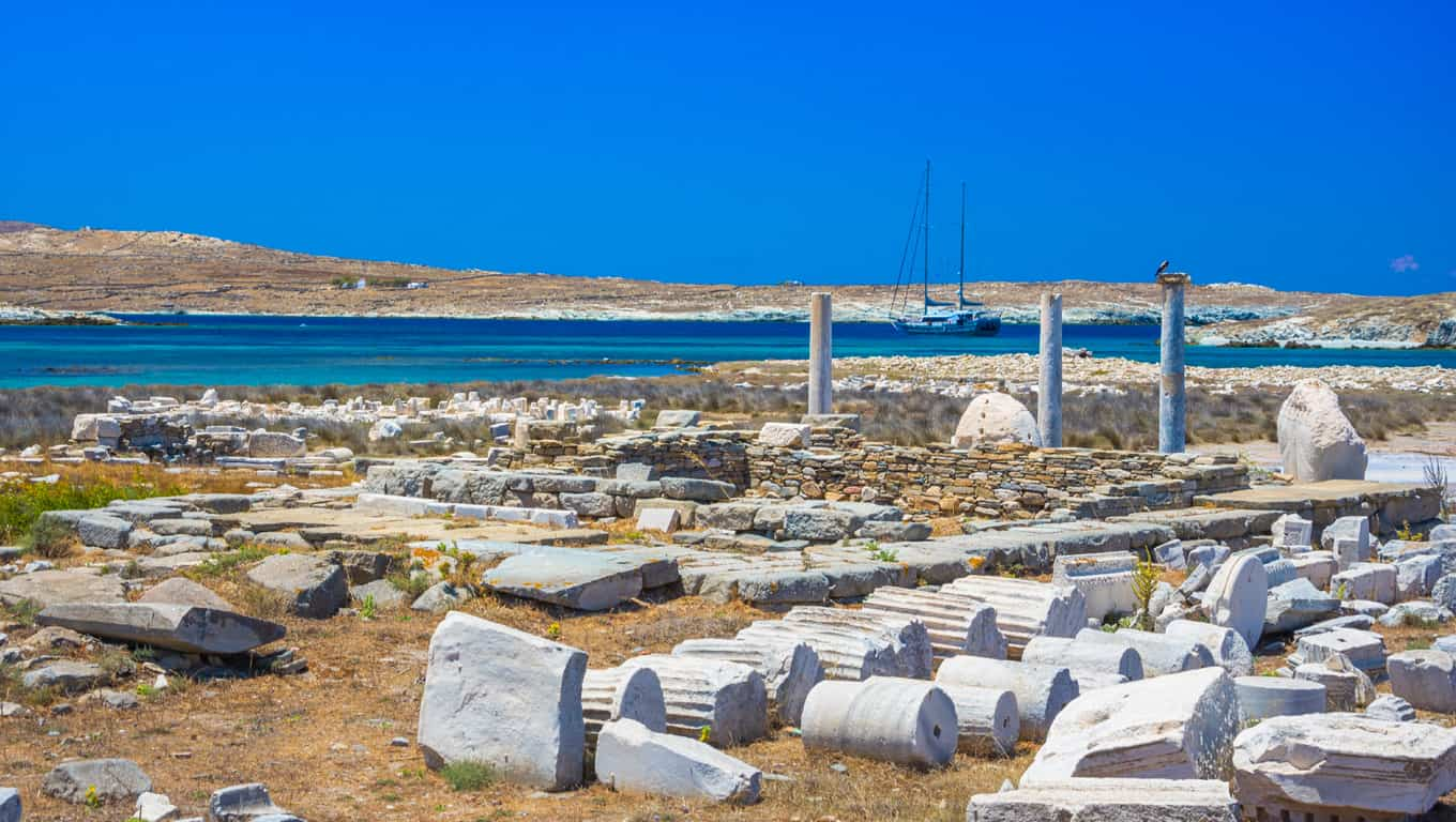 Ancient Ruins Of Delos, Greece