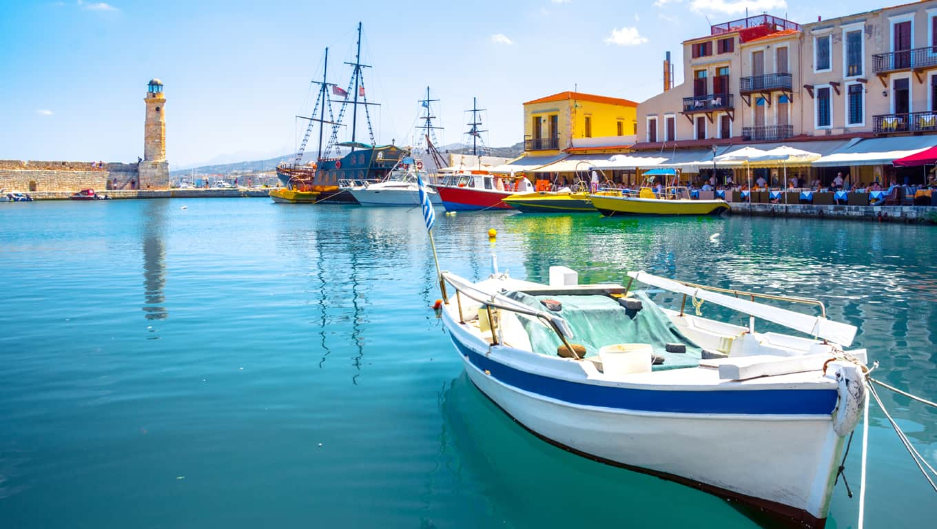 Rethymnon Port In Crete, Greece