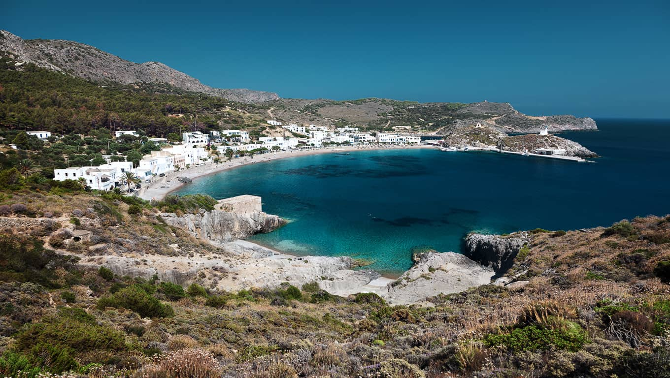 Kapsali Bay In Kythira, Greece