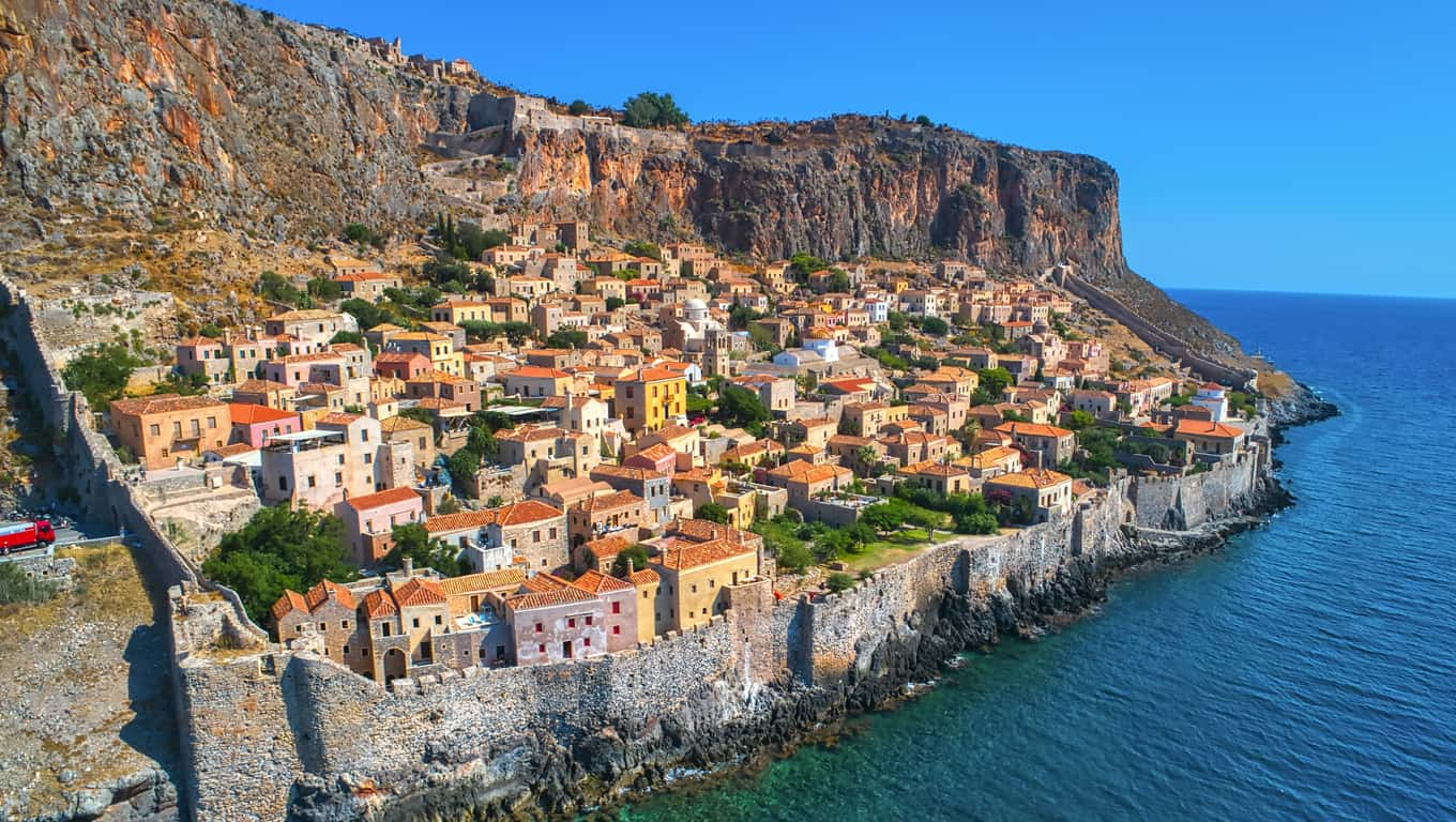 Fortified Town Of Monemvasia, Greece